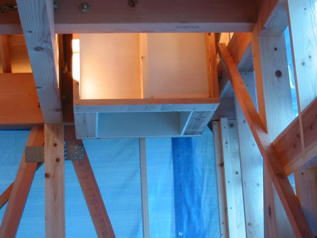 暖炉エントツ下地施工2