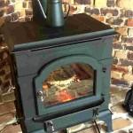施工事例 薪ストーブメンテンス 暖炉復旧後の燃焼中